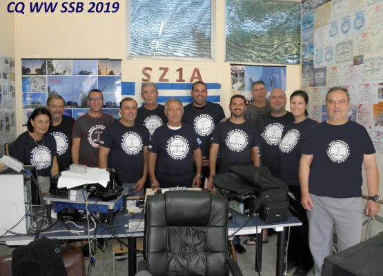 The team that participated in CQ WW SSB 2019 with operators SV1DKD, SV1PMQ, SV8PMM, SV1QXU, SV1CIB, SV1CQN, SV1HKH, SV2HQL, SV4QNP and SV1GE