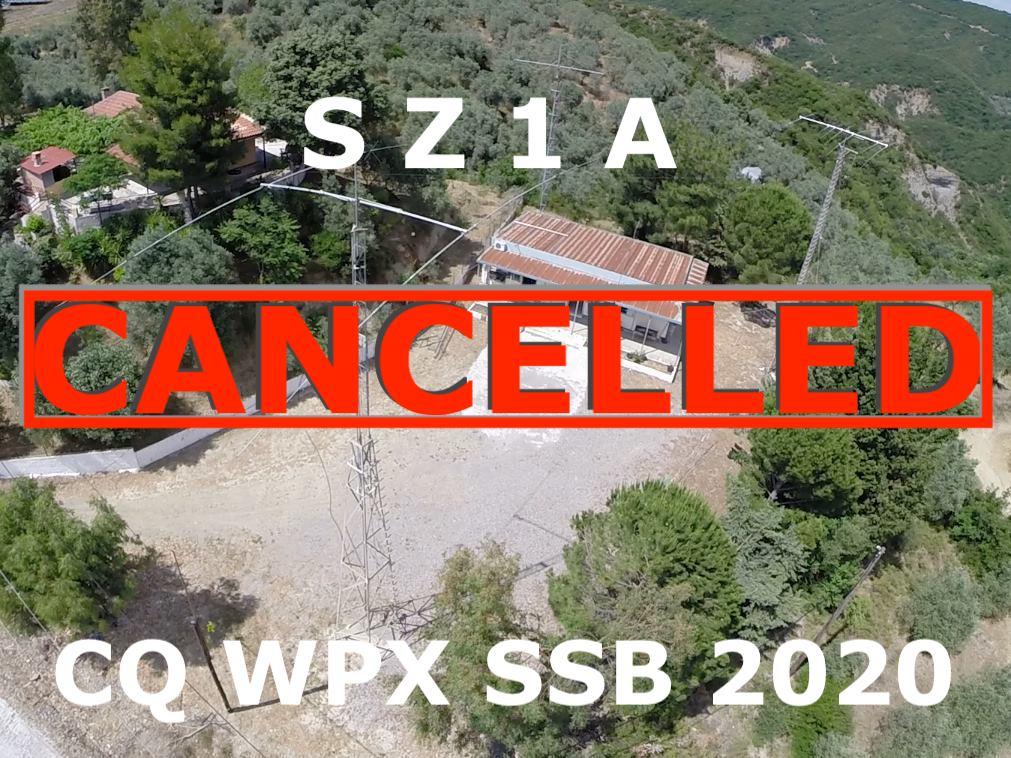 SZ1A CQ WPX SSB CONTEST 2020 CANCELLED